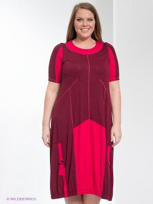 Платье МадаМ Т. Цвет: бордовый, фуксия