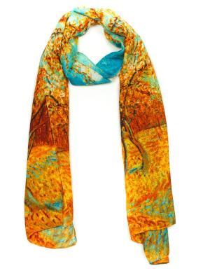 Палантин AnnA Wolf. Цвет: лазурный, горчичный, оранжевый, светло-зеленый