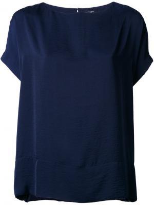 Свободная блузка Roberto Collina. Цвет: синий