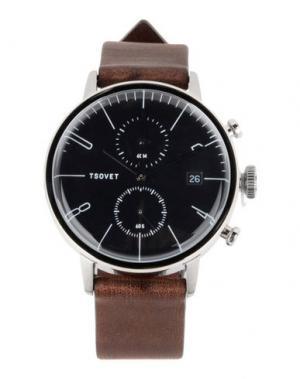 Наручные часы TSOVET. Цвет: коричневый