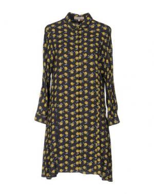 Короткое платье PAUL & JOE SISTER. Цвет: свинцово-серый