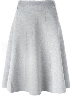 Плиссированная юбка T By Alexander Wang. Цвет: серый