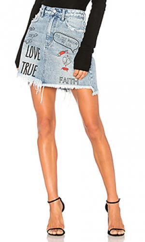 Мини юбка с вышивкой PRPS Goods & Co. Цвет: none