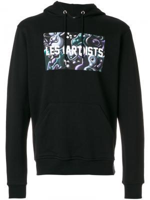 Толстовка с капюшоном графическим принтом Les (Art)Ists. Цвет: чёрный