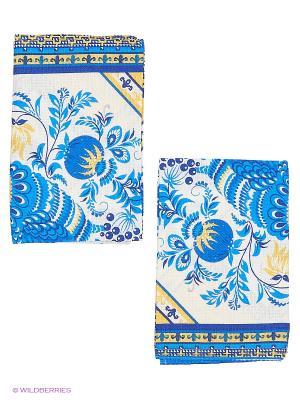 Набор кухонных полотенец 2 шт. Метиз. Цвет: белый, синий
