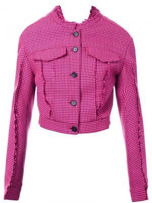 Приталенная куртка Yang Li. Цвет: розовый и фиолетовый