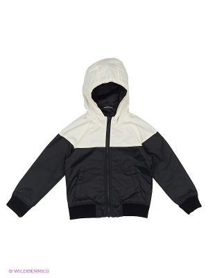 Куртка Sisley Young. Цвет: черный, белый