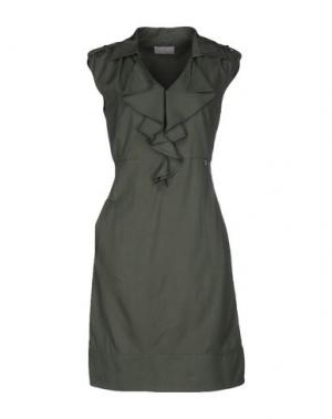 Платье до колена ROBERTA SCARPA. Цвет: темно-зеленый