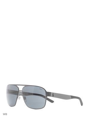 Очки солнцезащитные RALPH LAUREN. Цвет: серый