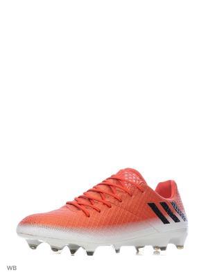 Футбольные бутсы (мяг.покр.) муж. MESSI 16.1 FG Adidas. Цвет: красный, белый