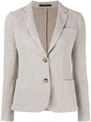 Пиджак с застежкой на две пуговицы Eleventy. Цвет: телесный