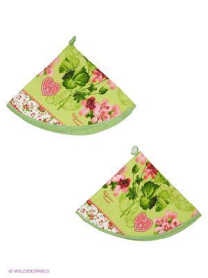 Набор полотенец круглых 2 шт. Метиз. Цвет: зеленый
