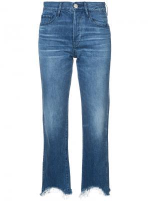 Укороченные джинсы Austin 3X1. Цвет: синий