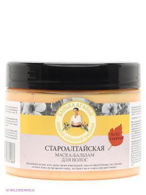 Маска-бальзам для волос староалтайская Рецепты бабушки Агафьи. Цвет: персиковый, бежевый