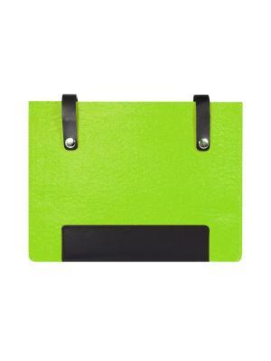 Чехол фетровый с кожаными вставками на кнопках IQ Format. Цвет: черный, зеленый