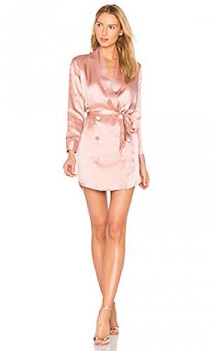 Платье с поясом Michelle Mason. Цвет: розовый