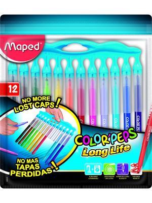 COLORPEPS LONG LIFE Фломастеры смываемые, 12 цветов Maped. Цвет: синий