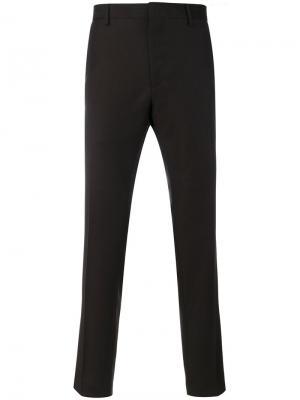Классические брюки Salvatore Ferragamo. Цвет: коричневый