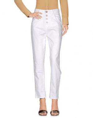 Повседневные брюки DIXIE. Цвет: белый