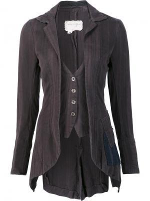 Fitted waistcoat jacket Greg Lauren. Цвет: серый