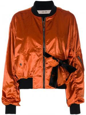 Укороченная куртка-бомбер Damir Doma. Цвет: жёлтый и оранжевый