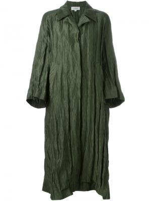 Свободное пальто Isa Arfen. Цвет: зелёный
