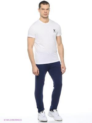 Комплект: брюки, футболка Freddy. Цвет: синий, белый