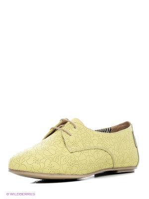 Туфли PIRANHA. Цвет: желтый
