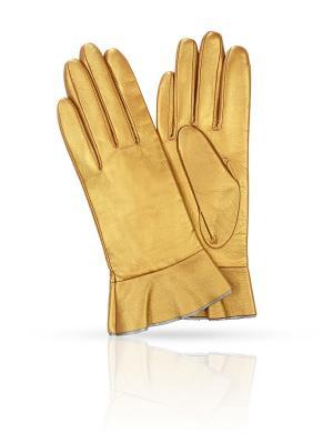 Перчатки MICHEL KATANA`. Цвет: золотистый