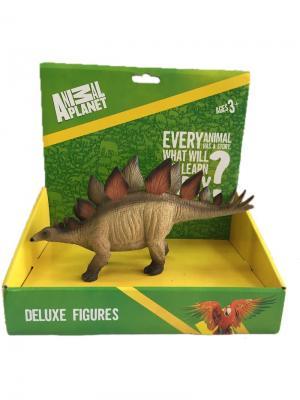 Фигурка Mojo (Animal Planet) в индивидуальной упаковке - Стегозавр (XXL). Цвет: терракотовый, коричневый, светло-коричневый