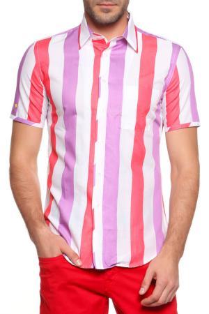 Рубашка, короткий рукав Sonia Rykiel. Цвет: белый, розовый, фиолетовый