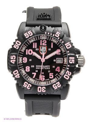 Часы Luminox. Цвет: черный, розовый