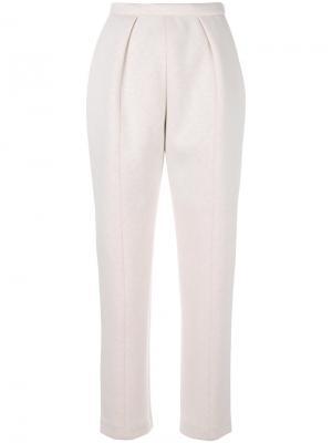 Зауженные брюки Delpozo. Цвет: телесный