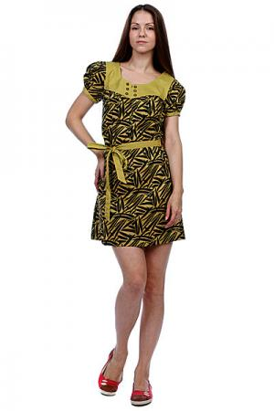 Платье женское  Riley Dress Pine Green Ezekiel. Цвет: зеленый