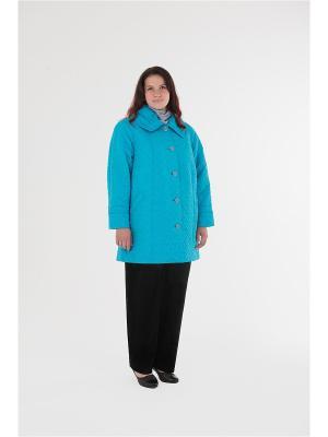 Куртка БаяНа. Цвет: голубой