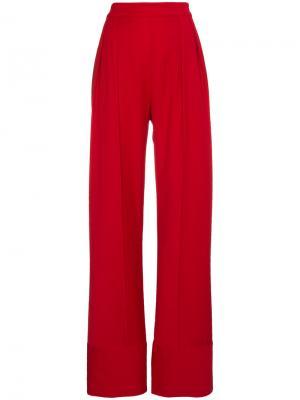 Широкие брюки с завышенной талией Michael Lo Sordo. Цвет: красный