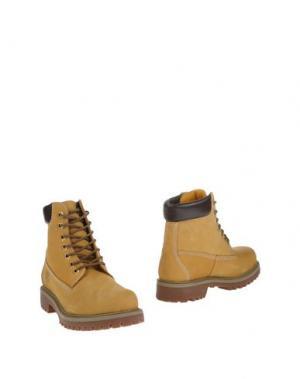 Полусапоги и высокие ботинки CAFèNOIR. Цвет: охра