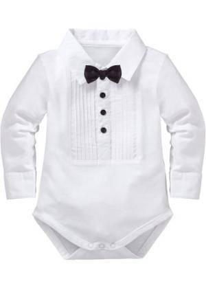Рубашка-боди: мода для малышей (белый) bonprix. Цвет: белый