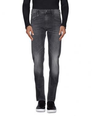 Джинсовые брюки UNIFORM. Цвет: стальной серый