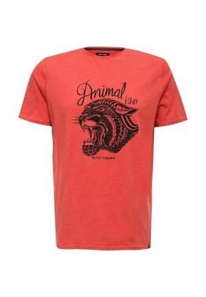 Футболка Animal. Цвет: оранжевый