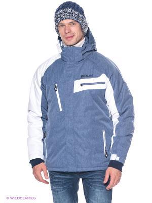 Куртка Baon. Цвет: синий, белый