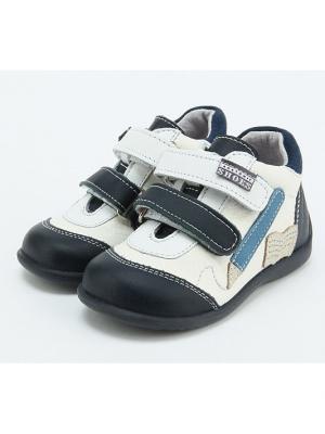 Ботинки King Boots. Цвет: синий, белый