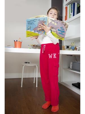 Спортивные брюки WonderKids. Цвет: малиновый