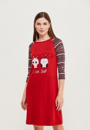 Платье домашнее Relax Mode. Цвет: красный