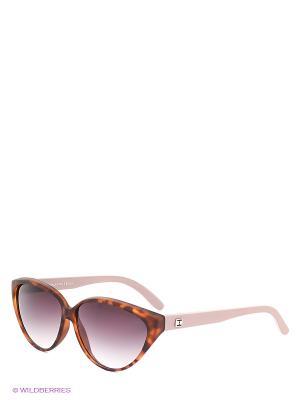 Солнцезащитные очки TOUCH. Цвет: темно-коричневый