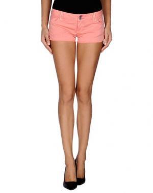 Повседневные шорты JCOLOR. Цвет: лососево-розовый