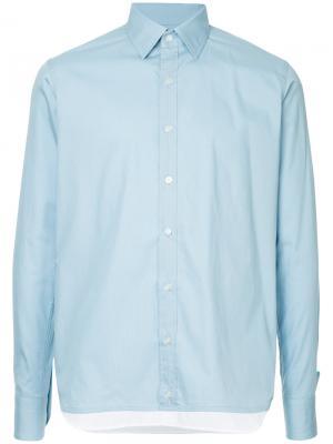 Классическая рубашка на пуговицах Kolor. Цвет: коричневый