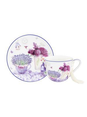 Чайная пара Лаванда Elan Gallery. Цвет: синий, сиреневый, фиолетовый