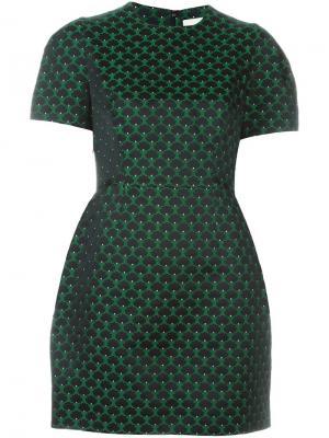Жаккардовое платье мини Mary Katrantzou. Цвет: зелёный