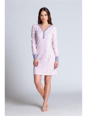 Ночная сорочка Jasmil. Цвет: сиреневый, розовый